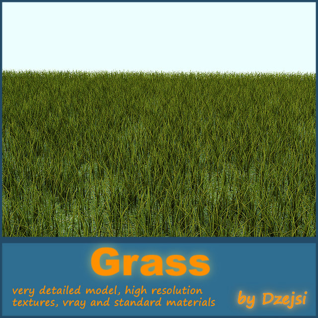 ground grass 3d model