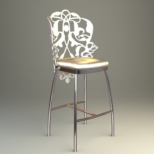 3d decorated bar chair model
