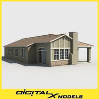subdivision house 3d max