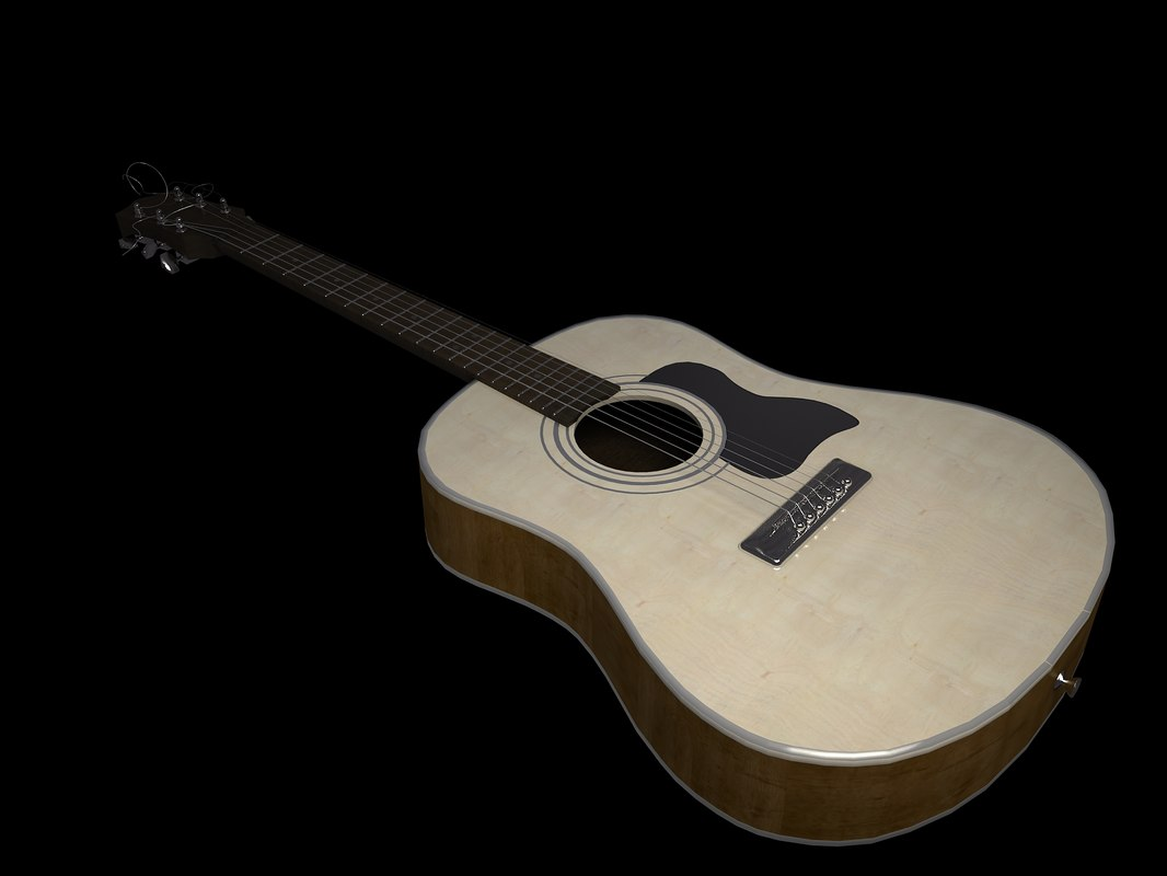 3ds max spanish guitar