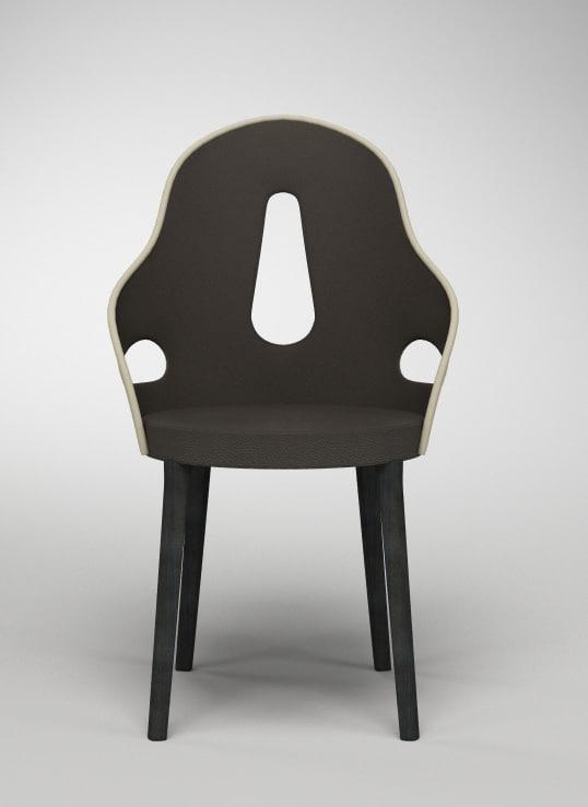 3d giorgetti dora small armchair model