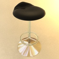 3ds max gold bar stool