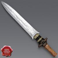 3dsmax african sword v1