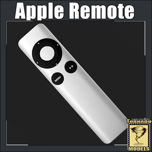 apple remote 3d model