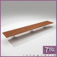 bench urban 3d model