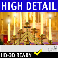 tiered candelabra dxf