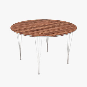 3d tables arne jacobsen
