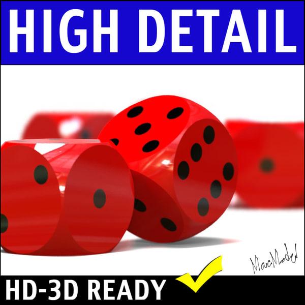 backgammon dice 3d 3ds