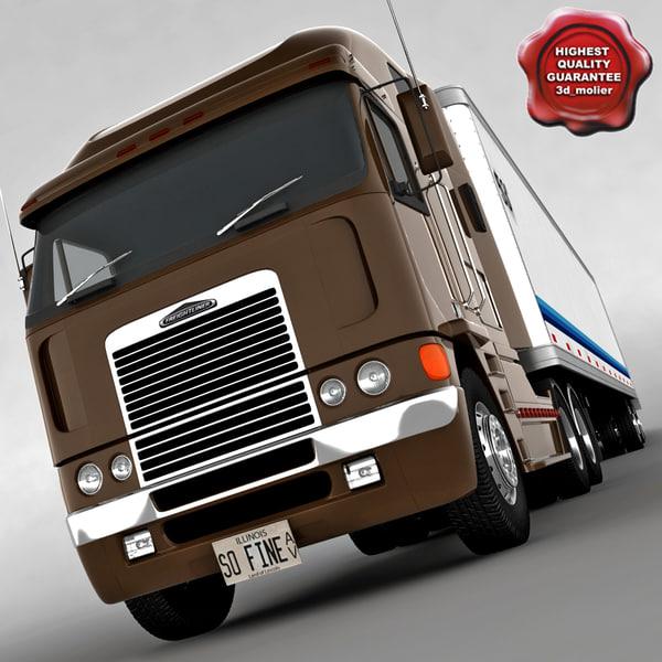 freightliner argosy trailer 3d max