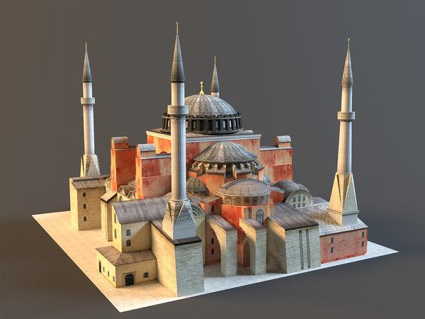 3d istanbul hagia sophia