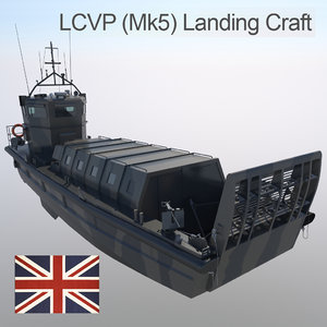 3d model landing craft lcvp