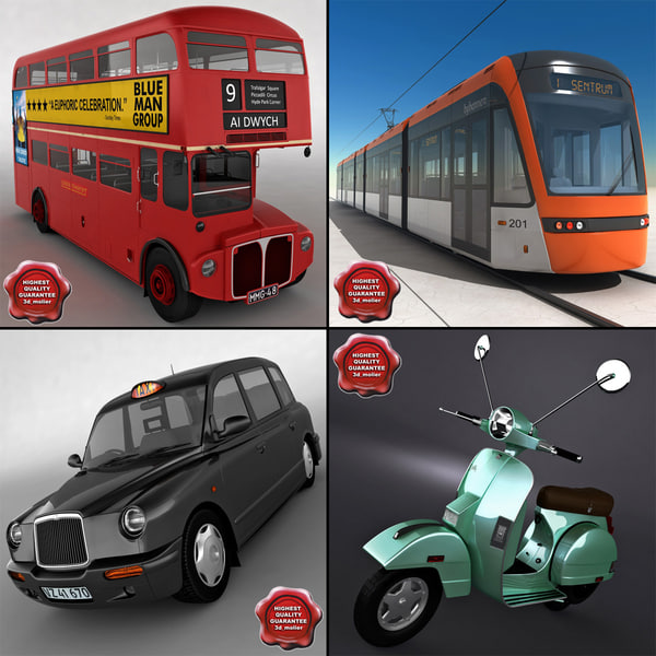3d london vehicles v1
