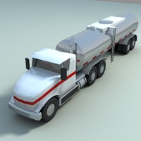 liquid truck vehicle 3d model