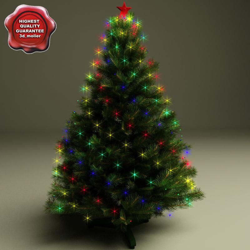 3d model new year tree v8