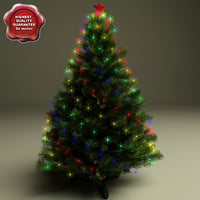 3d model new year tree v8