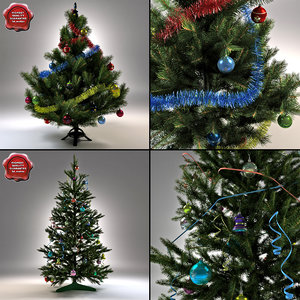 new year trees 3d 3ds
