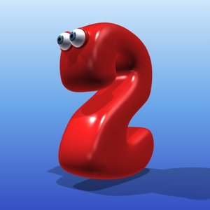 3ds max cute cartoon number