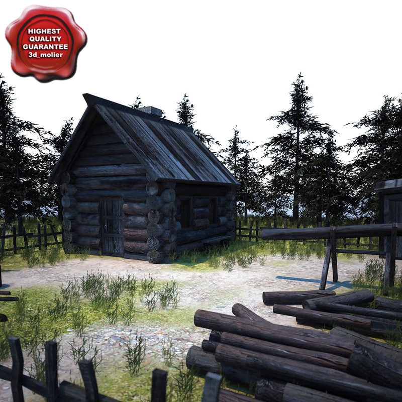 old wooden house 2 3d model