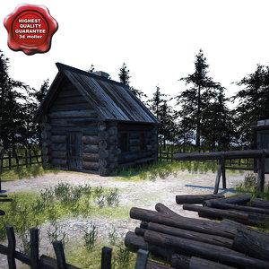 old wooden house 2 3d model