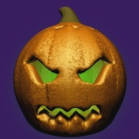3d pumpkin king morph targets model