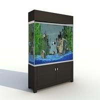 shelf aquarium 3d model