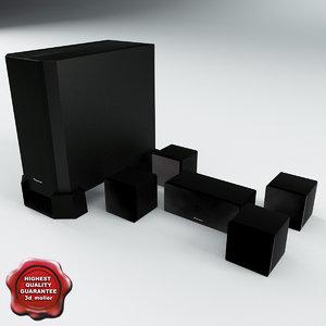 3d speaker pioneer dcs 363 model