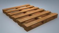 3d model wooden palette