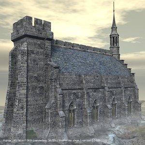 3d gothic castle