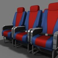 aeroplane seat_textured