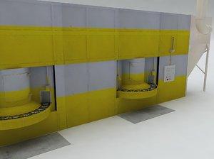 3d model blasting machine