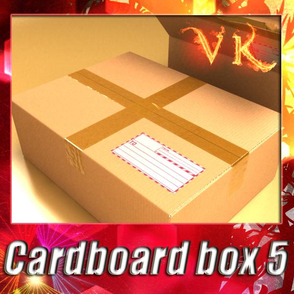 3d model photorealistic cardboard box resolution