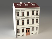 Vintage 3 Story Building - lowpoly