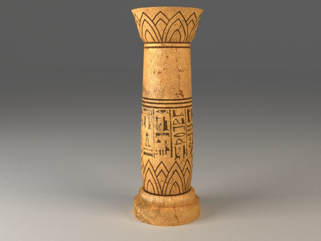obj egyptian column -