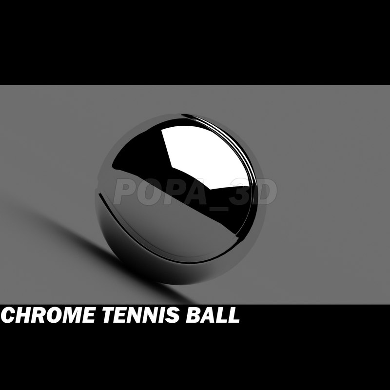 3d tennis ball chrome materials