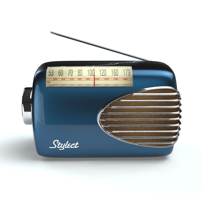 3ds max fifties retro radio