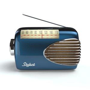 3ds max fifties retro radio