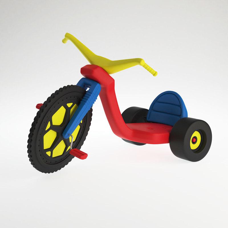 3ds max big wheel