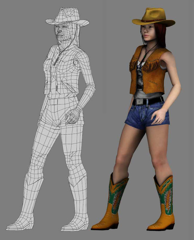 maya girl cow