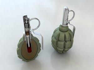 3d f1 grenade model