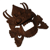 indonesian mask 3d model
