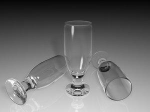 pilsner footed glass 3d c4d