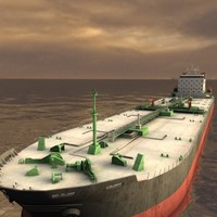 supertanker tanker super 3d model