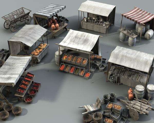 marketplace items 3 3d model