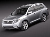 3d toyota highlander 2011 suv model