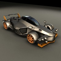 exotic sports car tramontana 3d 3ds