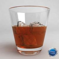 3d model of whiskey glass
