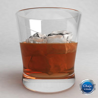 3d model whiskey glass
