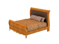 38. VERSAILLES LEATHER SLEIGH BED