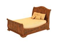 3d max vintage bed