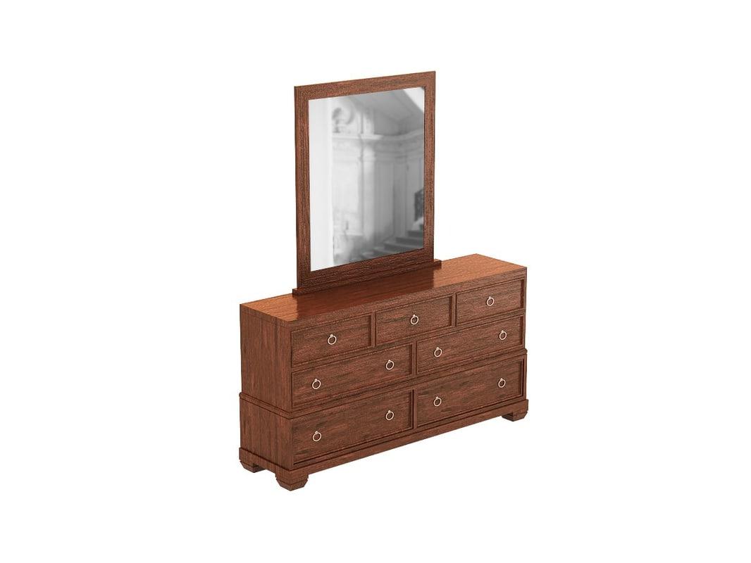 tarim way dresser mirror 3d model